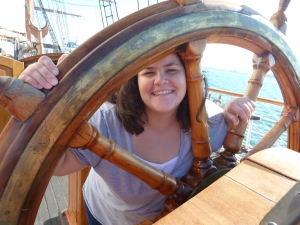 2012 08 CA San Diego trip 461 pirate ship Joy wheel fav JoyCarson FAV