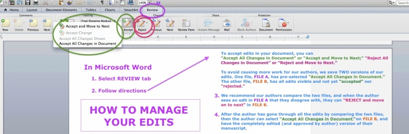 How To Manage Your Edits