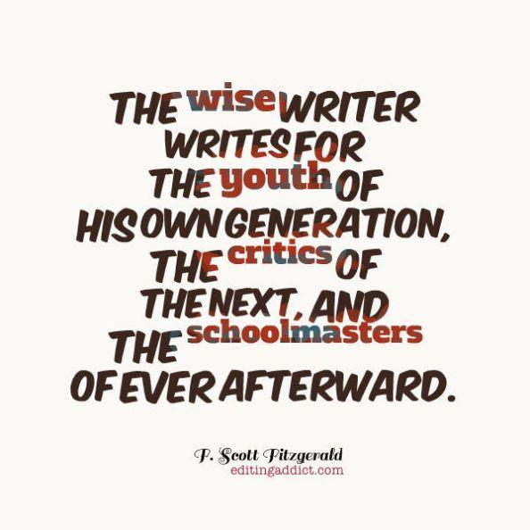 F Scott Fitzgerald _ wise writer