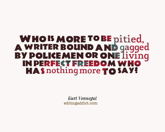 Kurt Vonnegut freedom writer