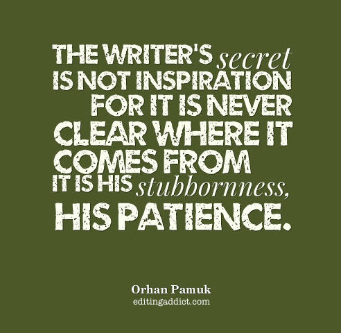Orhan Pamuk quote stubborness writer