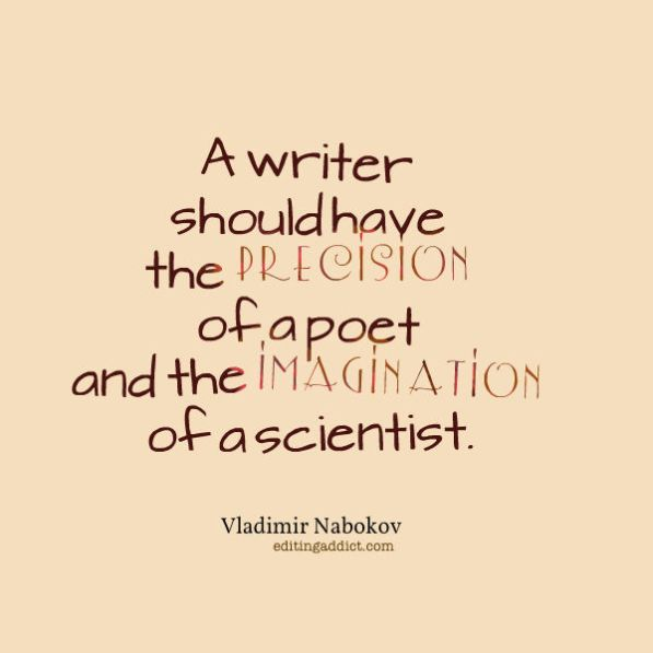 Vladimir Nabokov quote imagination scientist