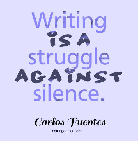 """struggle of writing It reads: """"the struggle with writing is over"""" now that he has made his decision,  he looks at the note every day """"it gives me such strength,"""" he."""