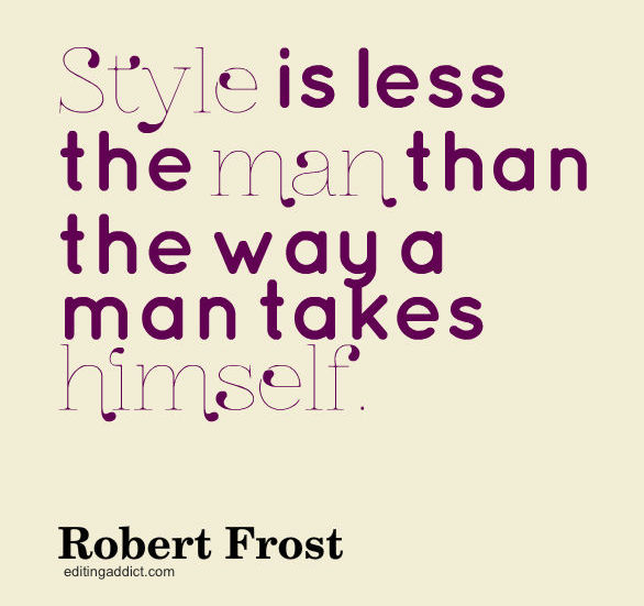 Robert frost writing style