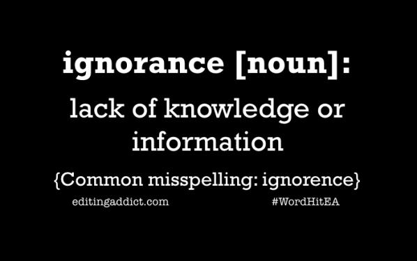 2016 WordHit.020 ignorance