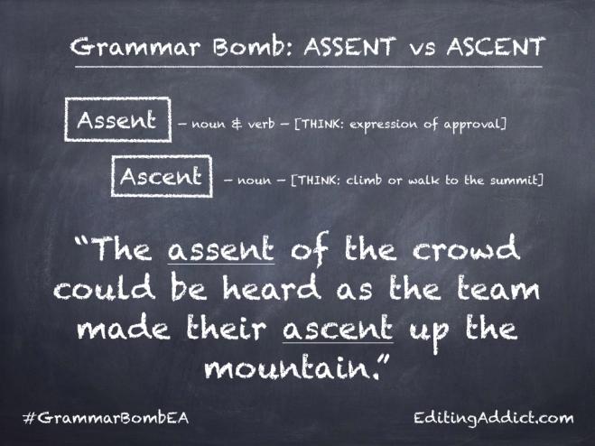 Grammar Bomb14 16.002_Assent vs Ascent