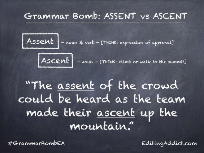 Grammar Bomb14 16.002_Assent vs Ascent