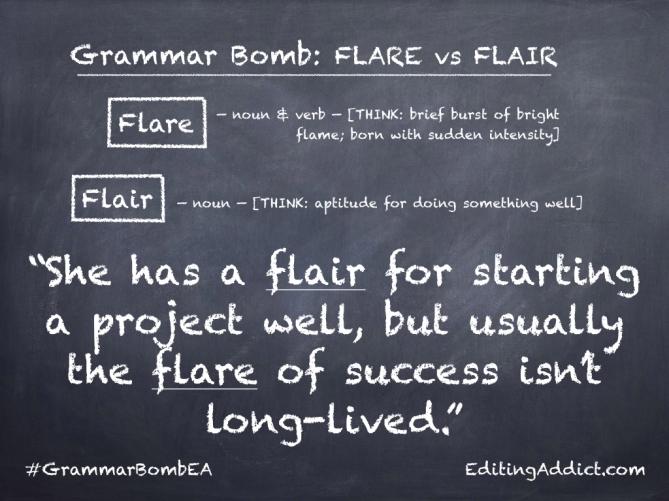 Grammar Bomb1724.008_Flare vs Flair