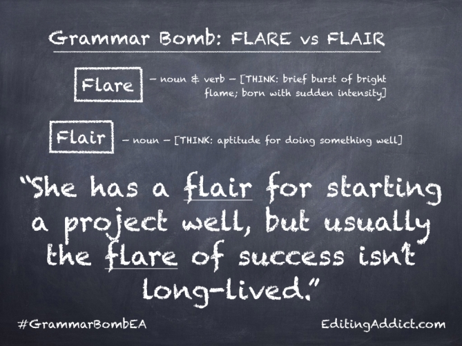 Grammar Bomb1724.008_Flare vs Flair