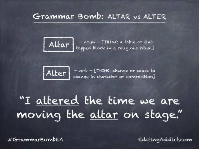 Grammar Bomb27.001_Altar vs Alter