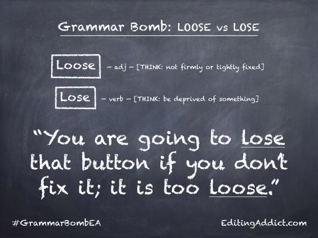Grammar Bomb27.002_Loose vs Lose