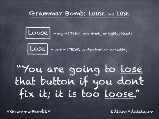Grammar Bomb27.002_Loose vs Lose