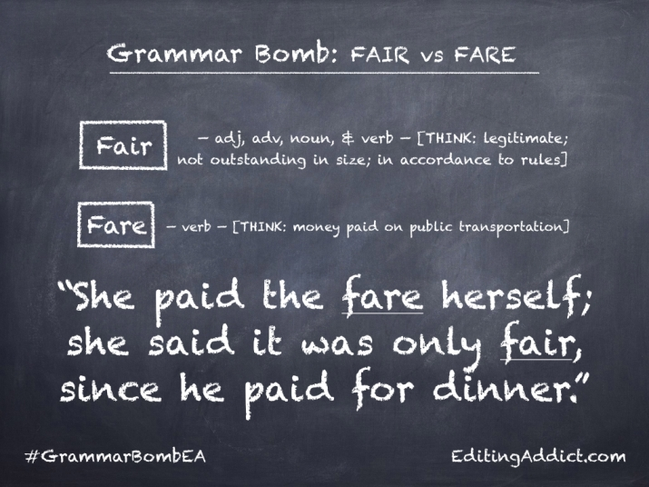 Grammar Bomb34.003_Fair vs Fare