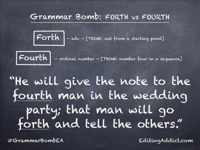 Grammar Bomb34.004_Forth vs Fourth