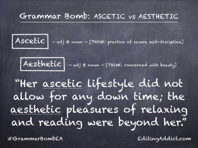 Grammar Bomb38.002_Ascetic vs Aesthetic