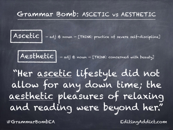 Grammar Bomb38.002_Ascetic vs Aesthetic