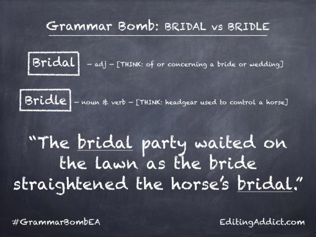 Grammar Bomb40.001_Bridal vs Bridle