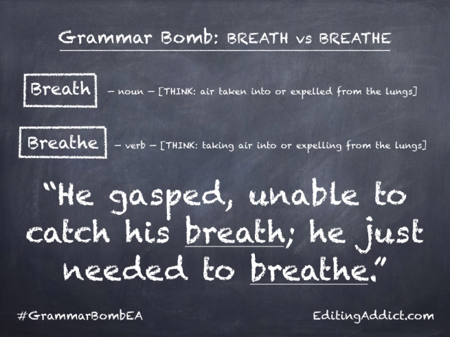 Grammar Bomb40.003_Breath vs Breathe