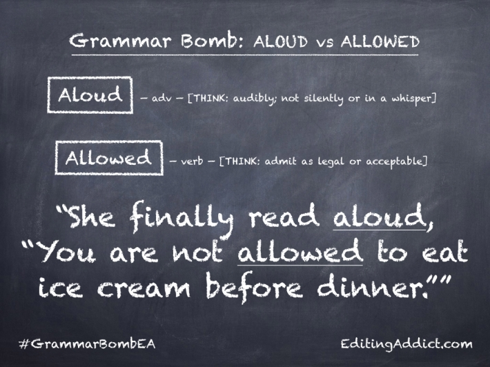 Grammar Bomb40.008_Aloud vs Allowed