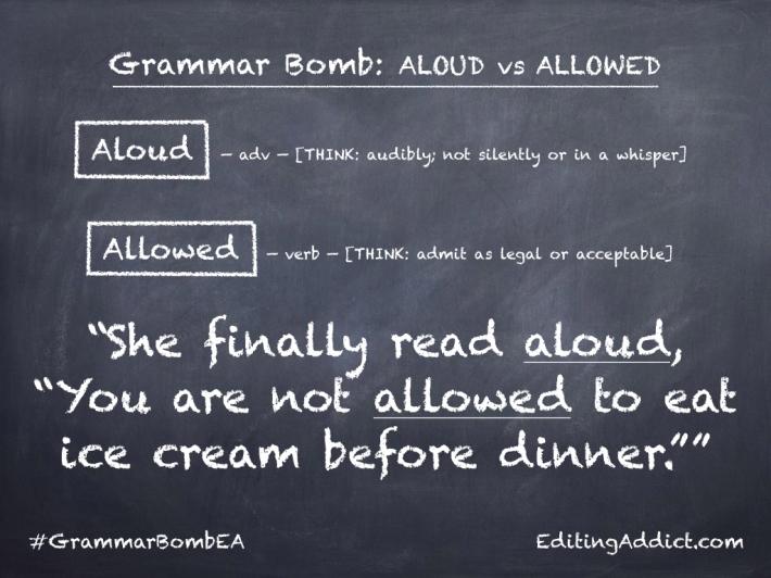 Grammar Bomb40.008_Aloud vs Allowed