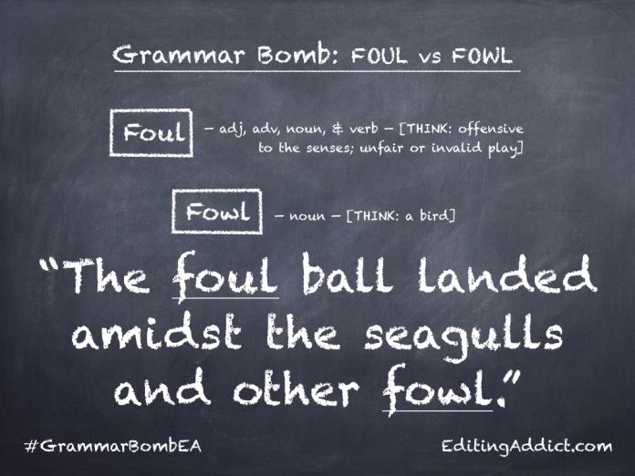 Grammar Bomb40.010_Foul vs Fowl