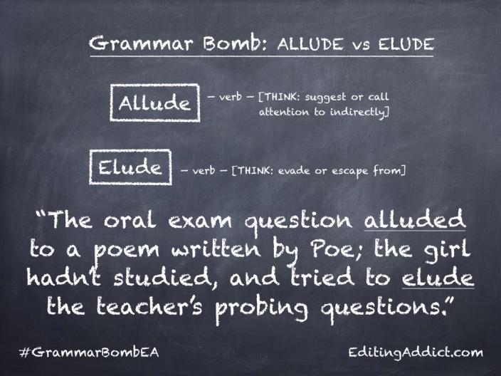 Grammar Bomb40.011_Allude vs Elude