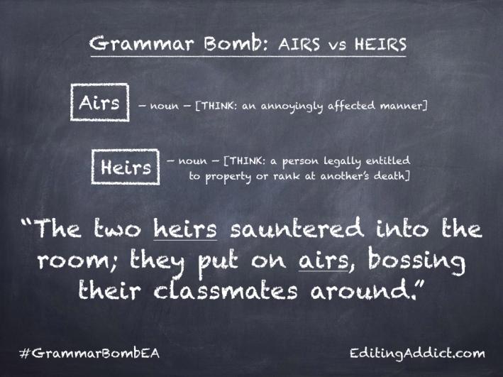 Grammar Bomb40.012_Airs vs Heirs