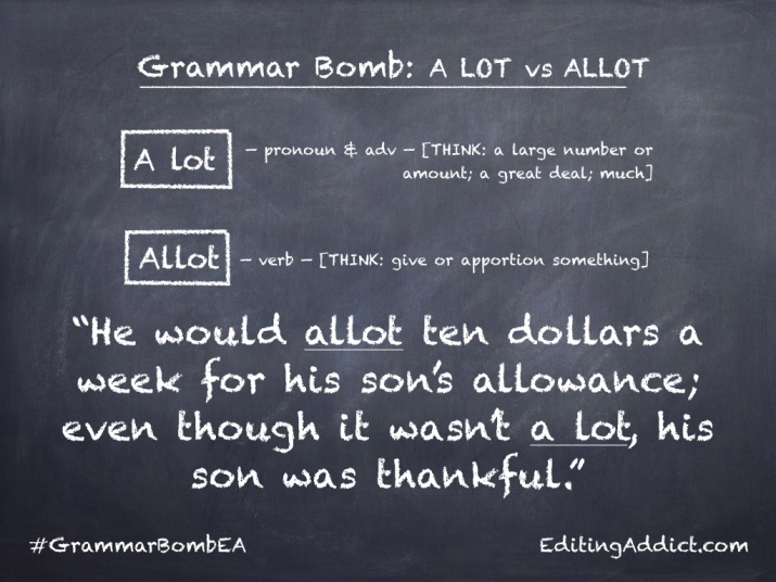 Grammar Bomb40.013_A lot vs Allot