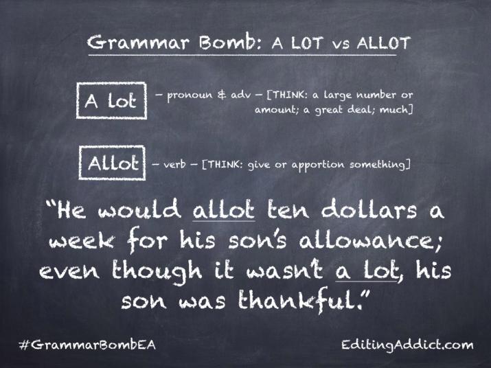Grammar Bomb40.013_A lot vs Allot
