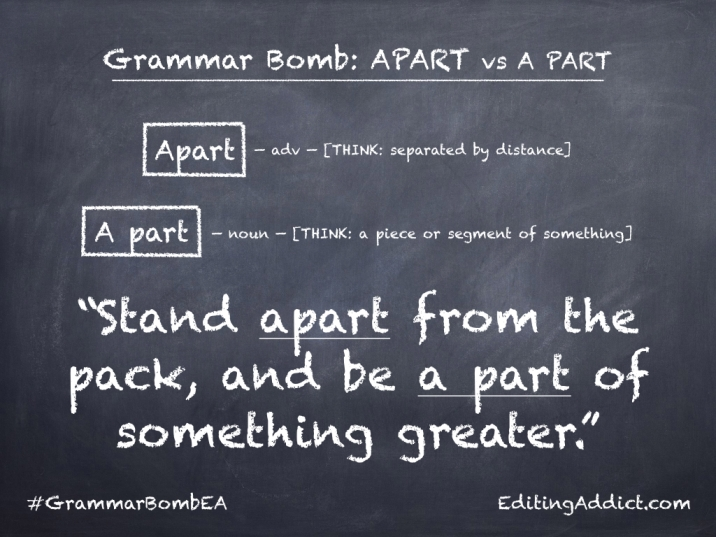 Grammar Bomb40.014_Apart vs A part