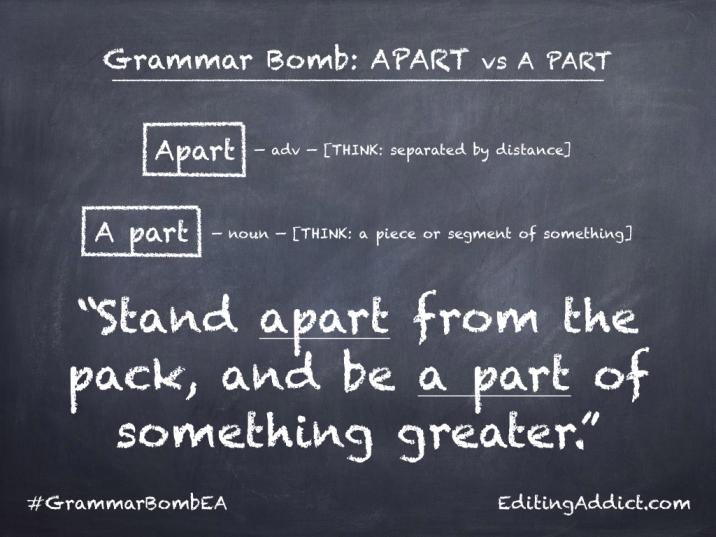 Grammar Bomb40.014_Apart vs A part