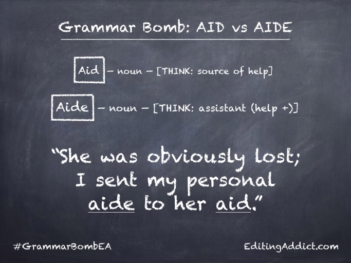 Grammar Bomb5.001_Aid vs Aide