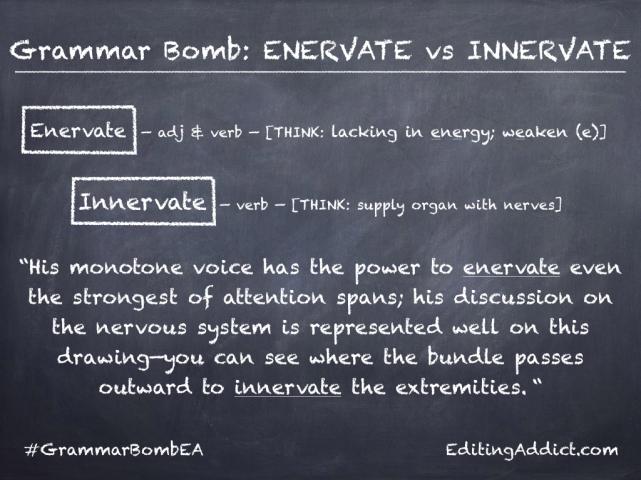 Grammar Bomb9.001_Enervate vs Innervate